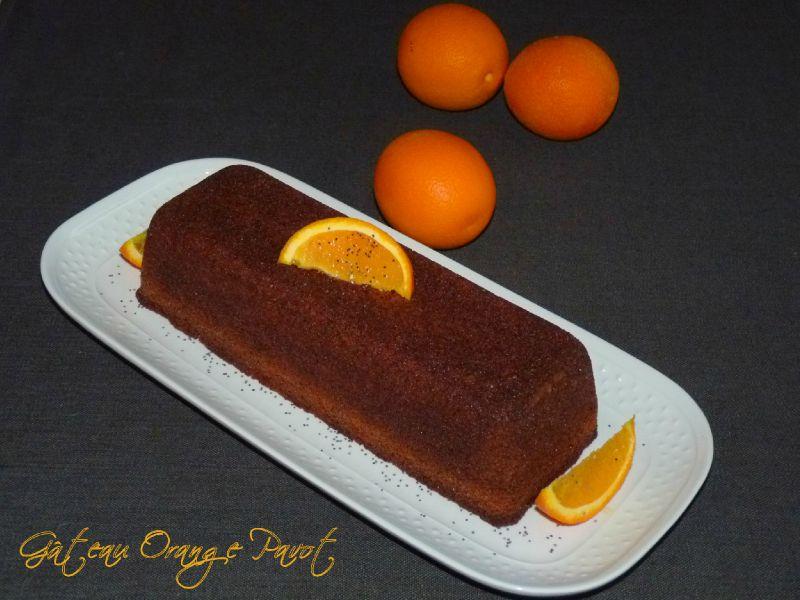 Gâteau à l'orange et aux pavots