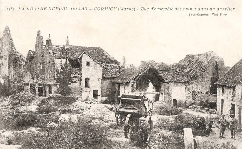 Cormicy, ruines