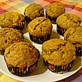Muffins à la courge <b>muscade</b>