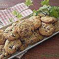 Biscuits aux pacanes et au chocolat noir absolu, sans gluten et sans lactose