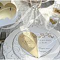 Thème de décoration : blanc et or