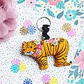 Kit <b>Mollie</b> Makes ~ mon porte-clés tigre Bethan Janine
