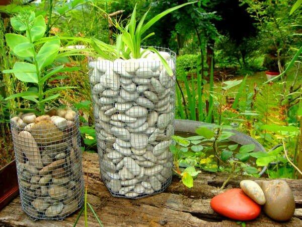 Des galets du grillage un gabion jardin d 39 artiste - Grillage gabion leroy merlin ...
