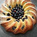 Gâteau moelleux au myrtilles § chocolat blanc