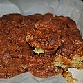 Brownie aux pommes noix et caramel