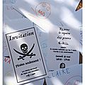 A l'abordage ! - anniversaire pirate, les invitations