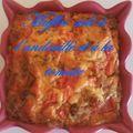 Muffins salés à l'andouille et à la tomate, sans lait nin gluten