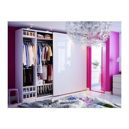 Armoire Pax Anstad Porte Coulissante Blanc Brillant Environ 1200u20ac Chez Ikea