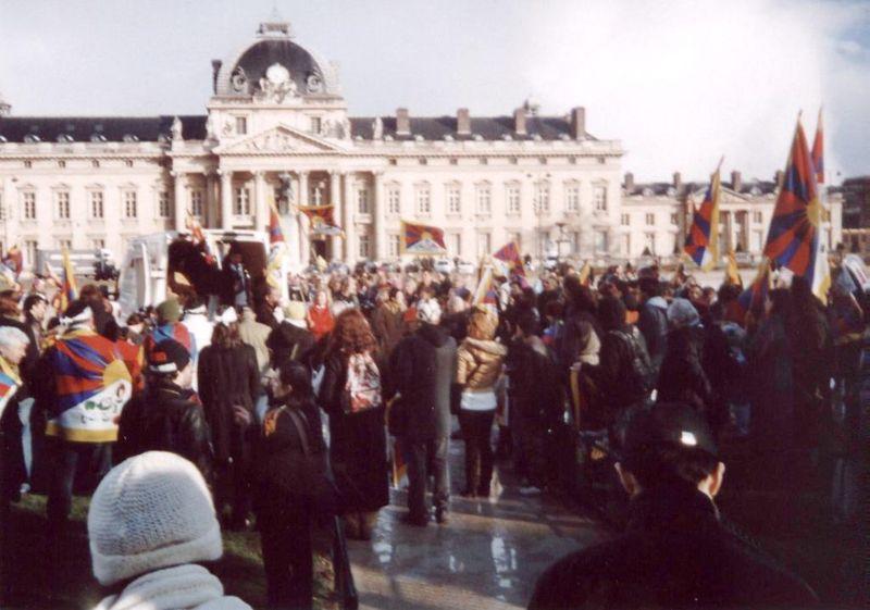 Manif du 7 avril 2008, au Mur de la Paix