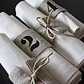 Serviettes et ronds de serviettes