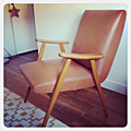 Vendu • fauteuil vintage en skaï•