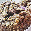 Muffins pomme de terre, chocolat & noisettes