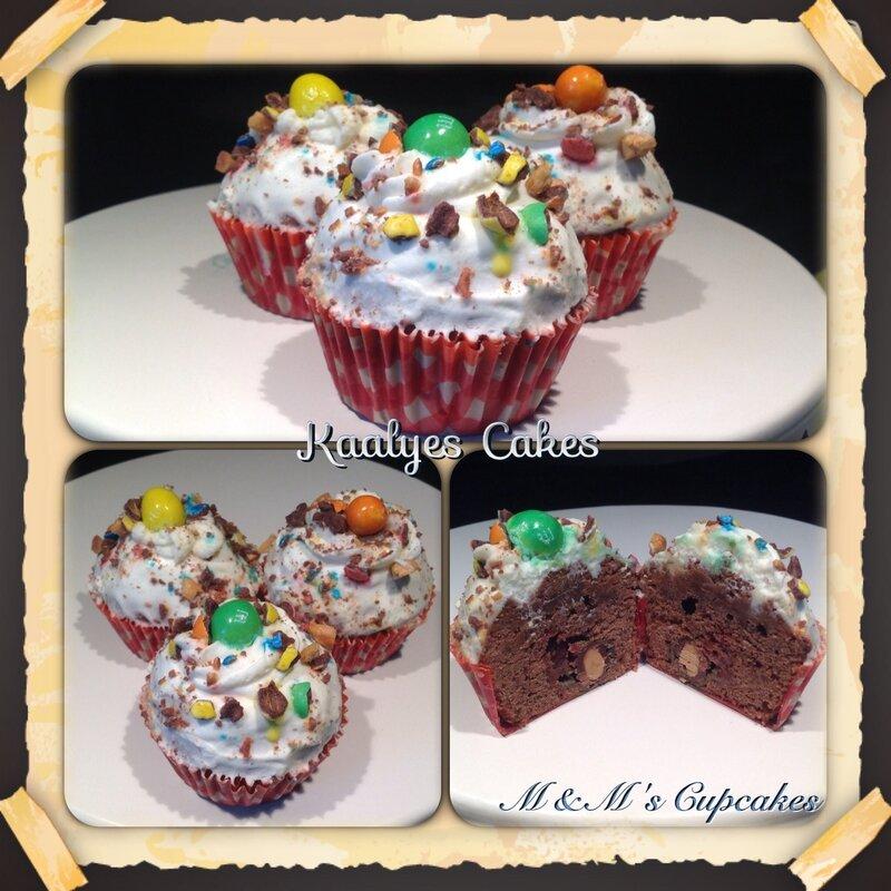 Cupcakes M&M's