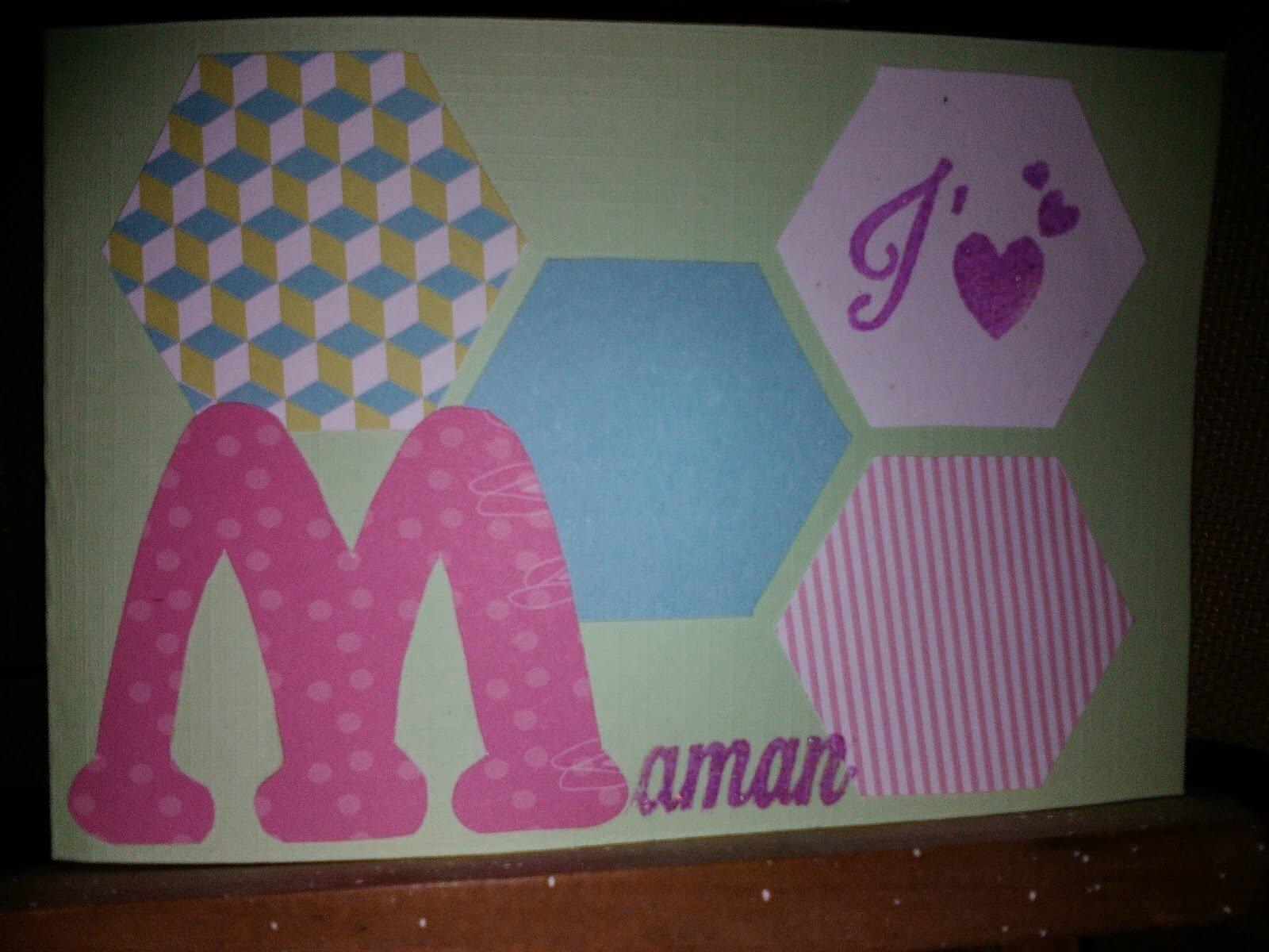 Carte hexagone fête des mères