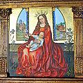 D'après une vierge du XVéme fond feuille d'or