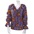 Yves Saint Laurent Silk Peasant Blouse. France. <b>1970</b>'<b>s</b>