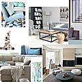 Projet client: espaces de vie en gris et bleu