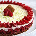 Cheesecake framboise et spéculoos