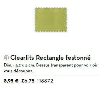 p191 clearlits rectangle