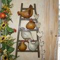 echelle à poules + décor à suspendre