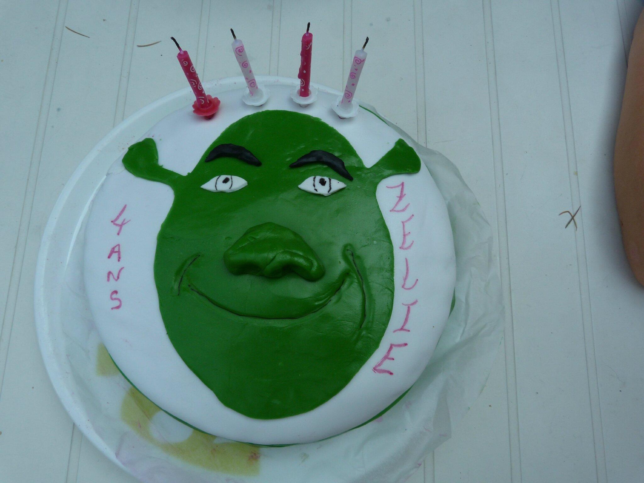 Gâteau shrek