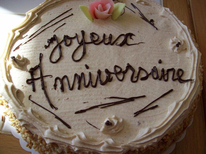 Gâteau crème anniversaire pâtissier Caglio