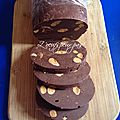 Fudge chocolat amande sans oeufs version boudin noir!