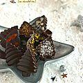 Chocolats de noël {chocolats crus}