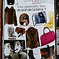 CrApule FActOry dans la Presse : ACTIVES MAGAZINE : le Sac/besace Barbiche fausse fourrure fait sensation