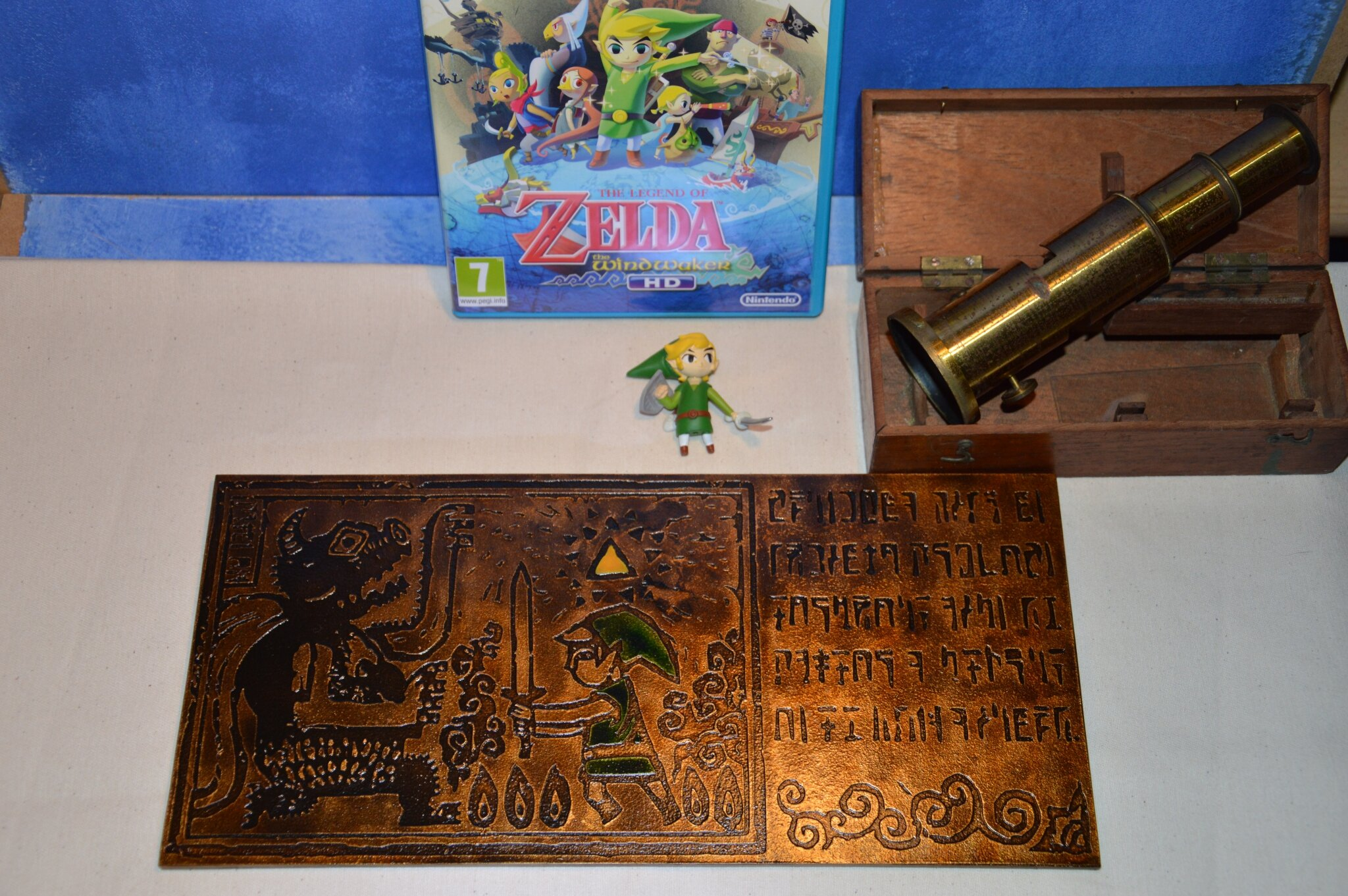 Fresque Intro Zelda the wind waker finie