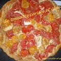 Tatin de tomates cerises et fromage de chevre