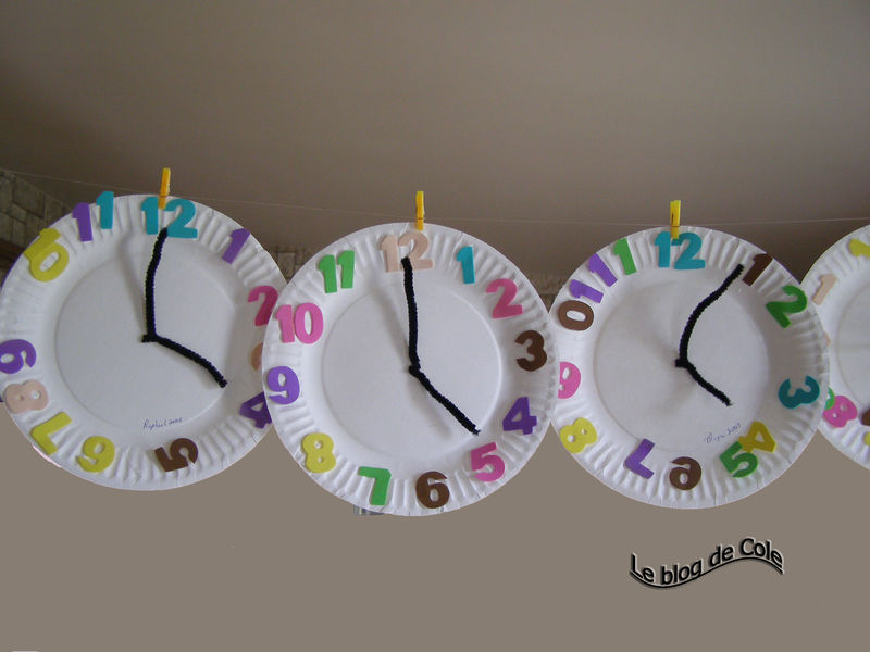horloge photo de bricolage d 39 enfant le blog de cole. Black Bedroom Furniture Sets. Home Design Ideas