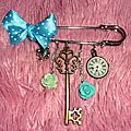 Solde: broche breloque alice in wonderland (modele unique)
