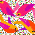 Kit coussin oiseau rose