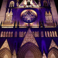 Fête des lumières à lyon, cathédrale saint jean