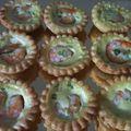 Mini-tartelettes aux crevettes et au lait de coco épicé
