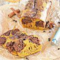 Marbré automnal {potiron & chocolat}