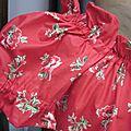 Robe ALBANE en coton rouge fleuri (3)