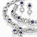 Diamond and sapphire parure, harry winston