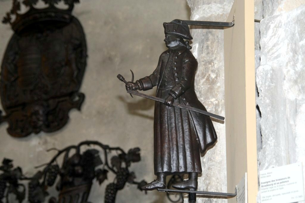 XVIII ème enseigne marchand drapier