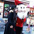 Ghislaine et le lutin au marché de Noël de Meyrargues 15 décembre 2012 - Stand et animation