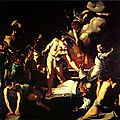 Les tableaux du Caravage à Rome (12/20). N°7 - Saint-Louis-des-Français – Saint Matthieu et l'ange, le <b>Martyre</b> de saint Matthieu