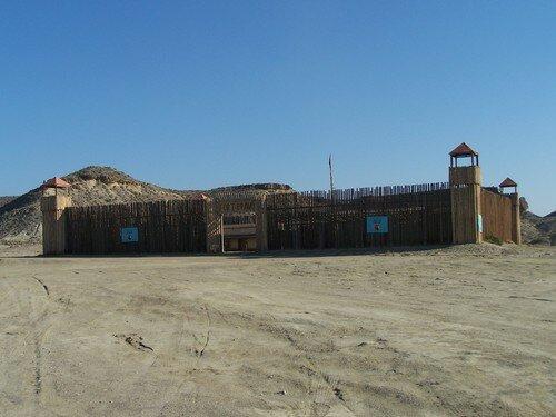 Désert de Tabernas-fort palissadé
