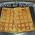 gaufres fourrées au fromage raclette Trufondor et au cheddar