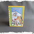 ARTicle, tutoriel : carte avec lacé en charnière et son gabarit à découper aux ciseaux