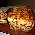 Cake aux courgettes et poivrons