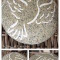 galet peint colombe pour 1ère communion