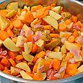 Mijoté de <b>pommes</b> de <b>terre</b> <b>nouvelles</b>, carottes