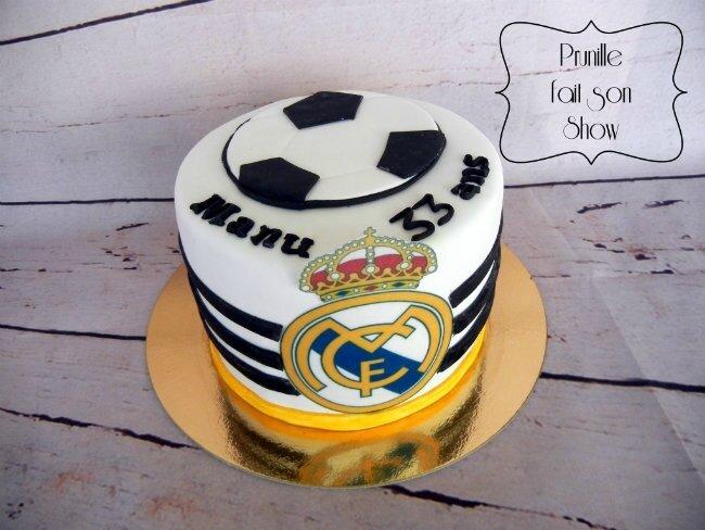 gateau Real Madrid - vanille/framboise