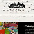 Ouverture du site pro de l'atelier oh pop-up